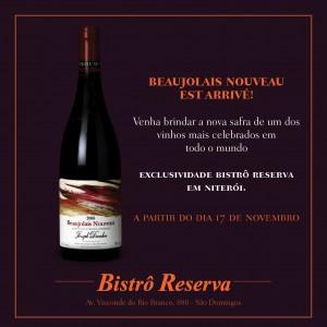 ATENÇÃO AMANTES DE VINHO! Amanhã receberemos no #BistroReserva a nova safra do #BeaujolaisNouveau !!! Venha provar.