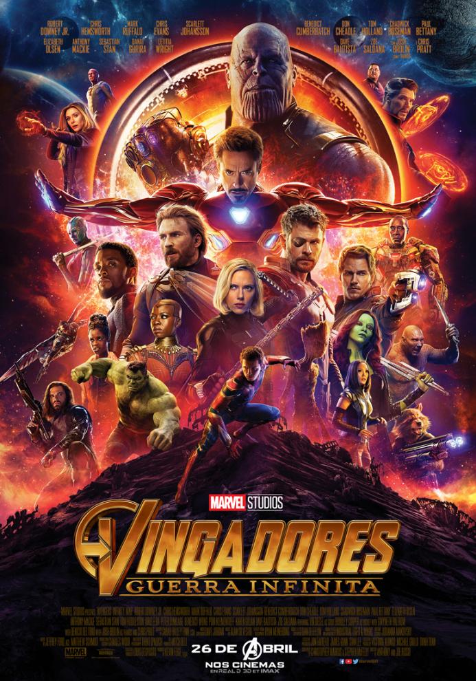 VINGADORES – GUERRA INFINITA 3D
