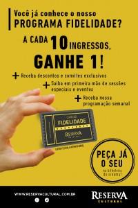 Cadastre-se a programa de fidelidade do Cinema Reserva Cultural São Paulo